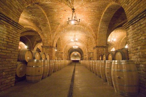 Castello di Amorosa cellar