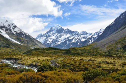 Large view of New Zealand for vacation spots for single women