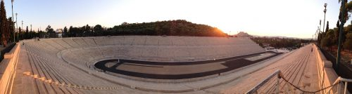 Panathenaic Olympic Stadium in the Greek Aegean Islands